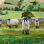 Curious sheep | oil on canvas | original oil painting by Mark Sofilas | Available