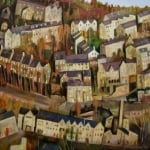 Hebden Bridge | oil on wood panel 61cm x 61cm | original oil painting by Mark Sofilas | Sold