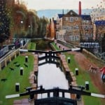 Hebden locks revisited | oil on canvas | original oil painting by Mark Sofilas | Sold