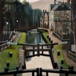 Hebden locks | oil canvas | original oil painting by Mark Sofilas | Sold