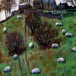Middlesmoor Sheep | oil on canvas | original oil painting by Mark Sofilas | Sold