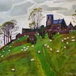Middlesmoor sheep II | oil on canvas | original oil painting by Mark Sofilas | Sold