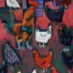 Pecking order | oil on canvas 91cm x 61cm | original oil painting by Mark Sofilas | Sold