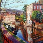 Rochdale canal II | oil canvas 80cm x 60cm | original oil painting by Mark Sofilas | Sold