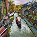 Rochdale canal | oil on canvas 76cm x 66cm | original oil painting by Mark Sofilas | Sold